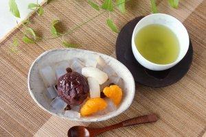 Anmitsu Japanese Wagashi Dessert