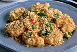 Cereal Prawns made during Singapore Cuisine Cooking Class