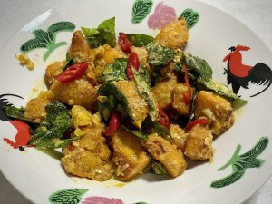 Salted Egg Pumpkin Recipe Made During Cooking Team Building Class