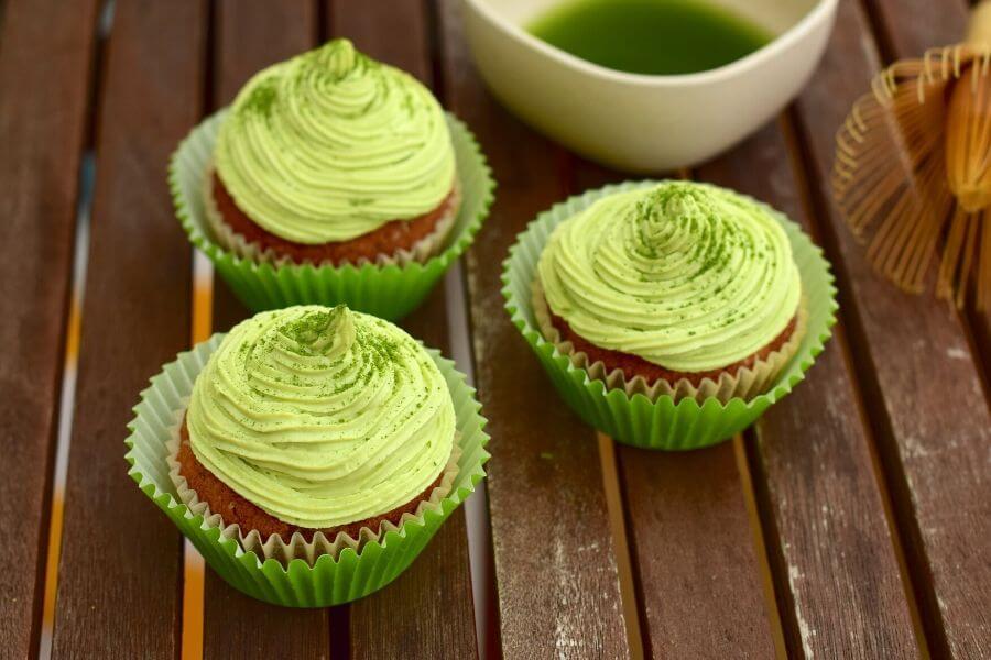 Matcha Muffins Japanese Green Tea Cake Recipe