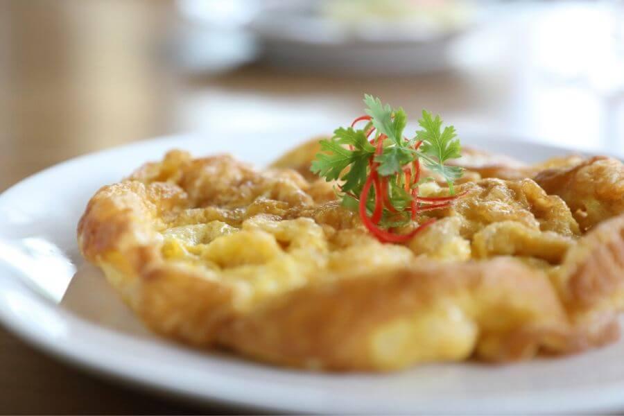 Thai Pork Chicken Omelette