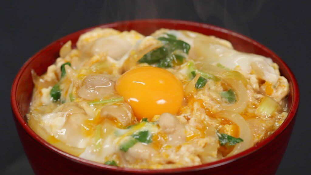 Japanese oyakodon made during a cooking class in singapore