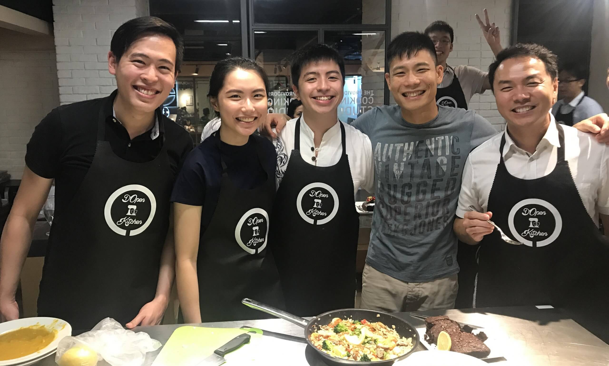 Cooking Team Building Event Picture